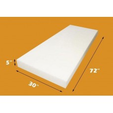 "Upholstery Foam 5"" Thick, 30"" Wide x 72"" Long Medium Density"