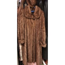 Fur coat mink red, Size 56