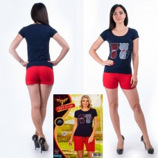 Women's T-Shirt + Shorts Turkey. Night Angel 5217 S / M. Size 42-44 More information: 6 SETS