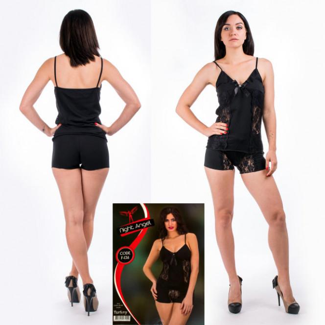 Women's underwear set from Turkey Night Angel F-136. The size is 46-48. 6 SETS