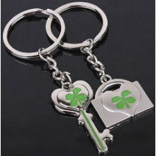 Twin keychains for lovers - Key and lock