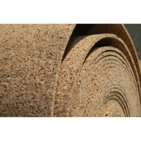 Cork natural substrate for laying parquet and laminate insulation is environmentally friendl