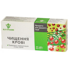 Blood purification, 40 tab. 0.5 g each, to normalize blood composition