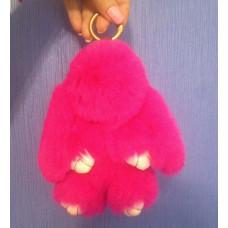 Keychain rabbit crimson / fur keychain / keychain bunny 18 cm