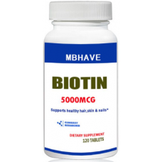 Biotin 5000 mcg 120 tablets Max strong hair support skin and nails