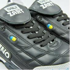 Shoes for the hall men's leather Zelart OB-90205-BK (solution 40-45) (upper-leather, sole-PU, black)