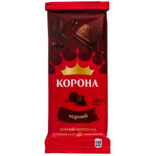 Chocolate Crown black without additives 85g  2 pieces