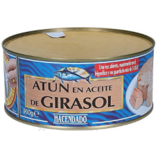 Tuna in sunflower oil Hacendado Atun Claro En Aceite De Girasol 900 g Spain