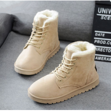 Women Boots 2019 Winter Snow Boots Female Boots Duantong Warm Lace Flat with Women Shoes Tide Botas Mujer