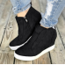 WENYUJH Women Sneakers Breathable Wedges Platform Vulcanize Shoes Woman Pu Leather Women Casual Shoes tenis feminino 2019