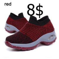 Women Walking Shoes Running Mesh Shoes Fashion Platform Slip-On Sneaker Air Cushion Gym Modern Dance Shoes Men