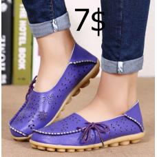 Fashion Women Flats Genuine Leather Shoes Women Flats Ladies Shoes Female Cutout Slip On Ballet Flat Shoes Loafers Big Size