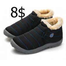 NEW Snow Boots Women Shoes Winter Flat Unisex Ankle Boots Female Slip On Furry Fur Skid Plus Size Warm Plush Couple Style Cotton 4.7
