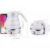 Foldable electric kettle, durable silicone compact size, 850 W, for travel, camping, water boiler, electrical appliances, US standard plug