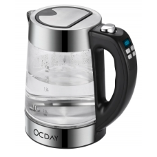 OCDAY glass electric kettle with temperature control 1.8l electronic display with four buttons temperature control stainless steel kettle