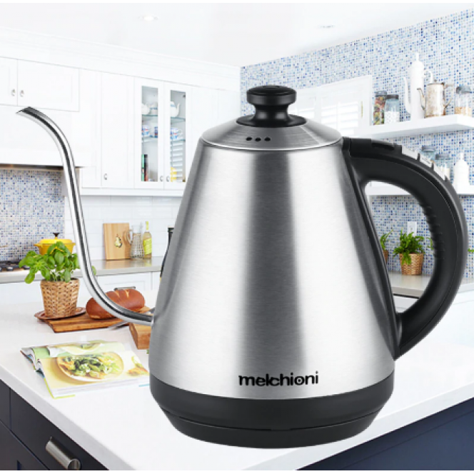 1L goose neck kettle electric kettle Adjustable insulation temperature stainless steel drip coffee tea EU kettle