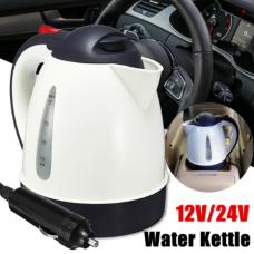 1000ml 12v / 24v portable car heating element kettle for hot water warmer for travel camping camping tea coffee stainless steel car heating kettles