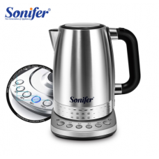 220V Electric stainless steel kettle 2200W household quick-heat kitchen kettle, temperature-adjustable kettle Sonifer