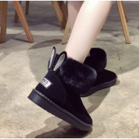 Women's shoes; Brand winter shoes; Round Toe Warm Black Casual Women Winter Boots
