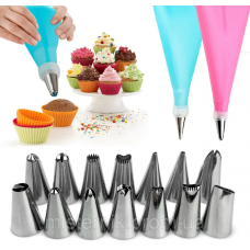 Silicone pastry bag with attachments 15 pcs
