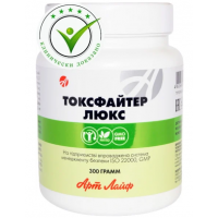 Toxfighter Lux 300grm. Artlife sorbent for complex cleansing of the body from poisons, toxins and radionuclides.