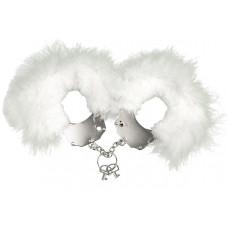Adrien Lastic Handcuffs White metal handcuffs with white trim