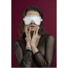 Mask closed with rivets Feral Feelings - Blindfold Mask white