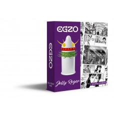 EGZO Jolly Roger Cock Nozzle (Mustache Condom)