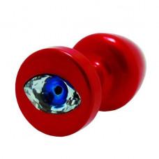 Butt plug with rhinestone Diogol Anni R Eye Red Crystal 30mm