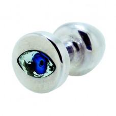 Butt plug with rhinestone Diogol Anni R Eye Silver Crystal 30mm