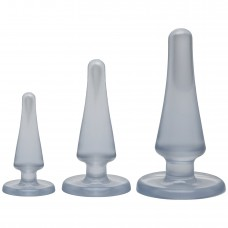 Doc Johnson Crystal Jellies Anal Initiation Kit - Clear