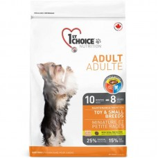 1st Choice (Fest Choys) Adult Toy & Small Breeds - the Dry feed with chicken for adult dogs pass also small breeds