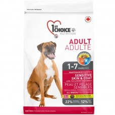 1st Choice (Fest Choys) Adult Lamb Fish - A dry feed with a lamb and fish for adult dogs inclined to an allergy