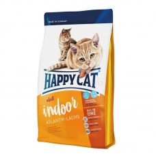 Happy Cat (Heppi Cat) Adult Indoor Atlantik-Lachs - A dry feed with a salmon for adult cats
