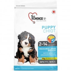 1st Choice (Fest Choys) Puppy Medium & Large Breeds is the Dry feed with chicken for puppies of average and large breeds