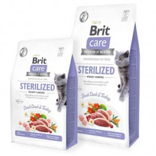 Brit Care (Care Is shaven) Cat Grain-Free Sterilized Weight Control - Dry bezzernovy a forage with a duck and a turkey for the adult sterilized cats for weight control