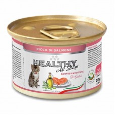 Healthy All days - A tinned forage with a salmon for kittens (paste)