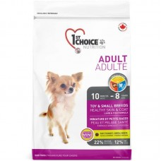 1st Choice (Fest Choys) Fish Adult Mini - A dry feed with a lamb and fish for adult dogs pass breeds