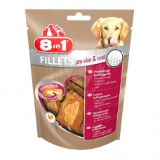 8in1 (8v1) Fillets Pro Skin and Coat - Delicacy - the chicken fillet for dogs promoting maintenance of beauty of wool
