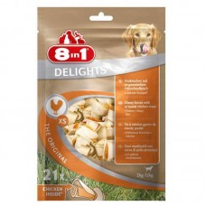 8in1 (8v1) Delights Bones Bag XS - Stones for toothbrushing with meat of chicken for dogs of small breeds