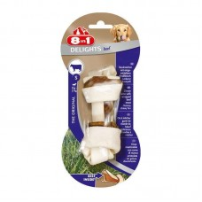 8in1 (8v1) Europe Delights Bones Beef - A bone for toothbrushing with beef meat for dogs