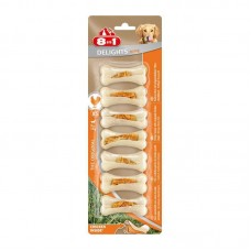 8in1 (8v1) Delights Bone Strong - Stones for toothbrushing with meat of chicken for dogs of small breeds