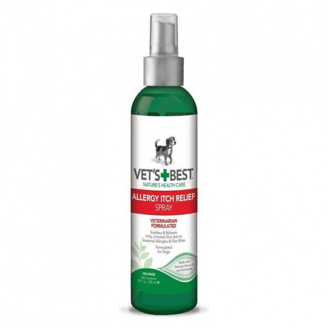VET'S BEST (Vets Best) Allergy Itch Relief Spray - Sprey for dogs at an allergy, for sensitive skin