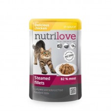 Nutrilove Chicken in sauce - Canned food with gentle chicken in sauce for cats
