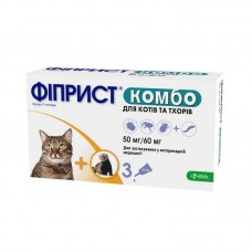 Fiprist of Kombo® Antiparasitic drops on withers for cats and polecats from fleas and ticks, the monopipette