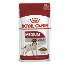 Royal Canin Medium Adult - Damp adult dog food of average breeds (pieces in sauce)