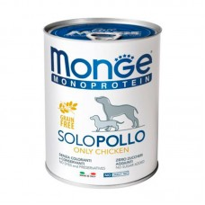 Monge Monoprotein Dog Solo Pollo of 100% - Monoprotein paste with chicken for dogs