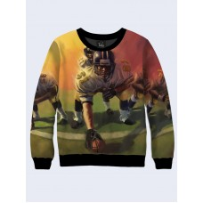 Mens 3D-print sweatshirt - American football. Long sleeve. Made in Ukraine.