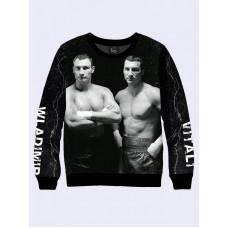 Mens 3D-print sweatshirt - Klitschko brothers. Made in Ukraine.