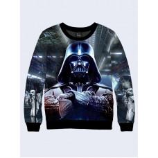 Mens 3D-print sweatshirt - Darth Vader. Long sleeve. Made in Ukraine.